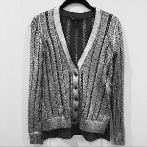 BCBGMaxAzria Sweaters - BCGB metallic knit cardigan